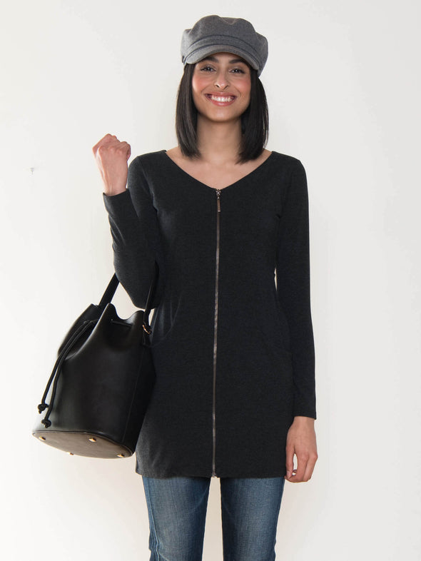 Jodi zippered tunic/cardi - FINAL SALE