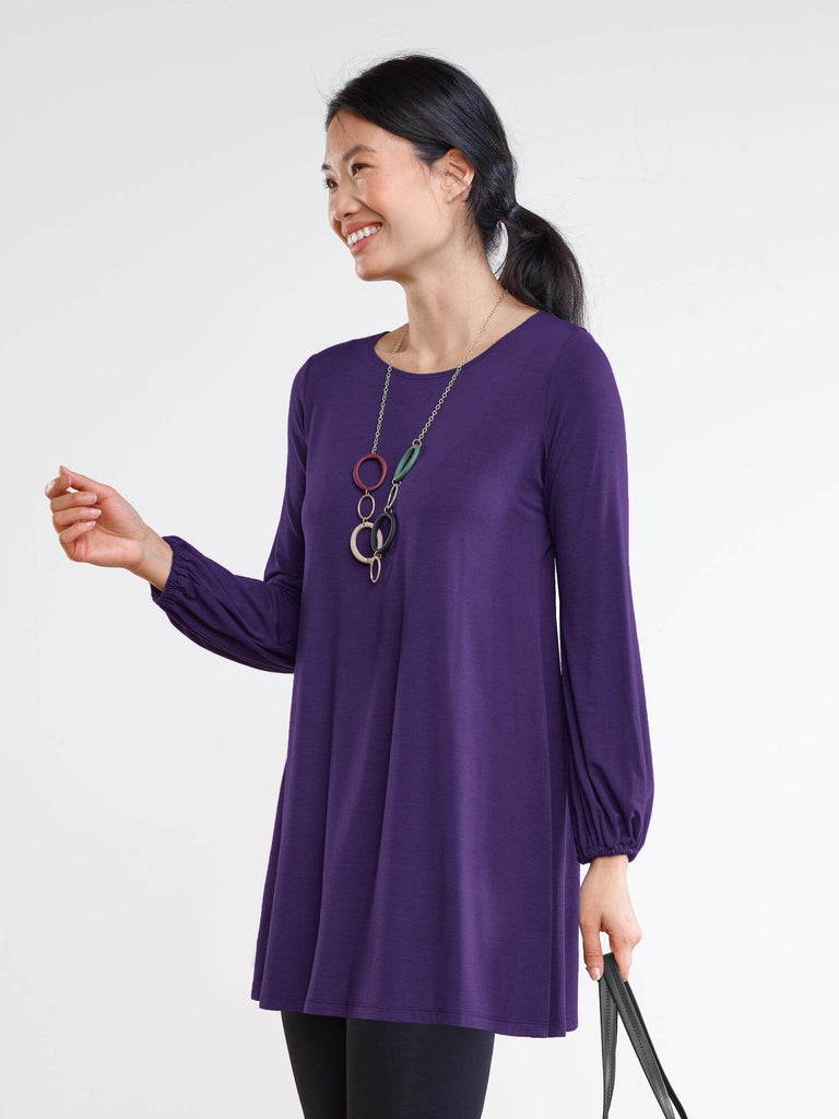 Joy gathered sleeve tunic