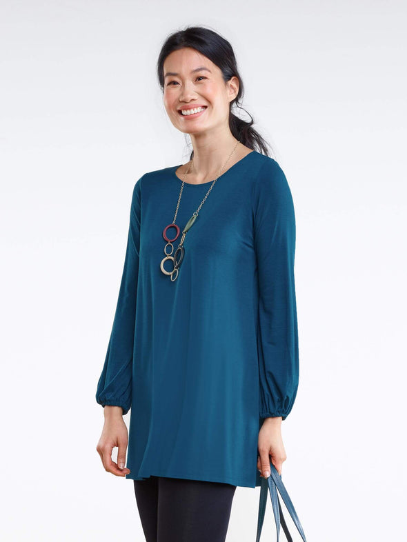 Joy gathered sleeve tunic - FINAL SALE