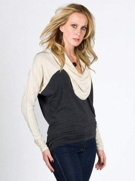 Judith two-tone cowl top