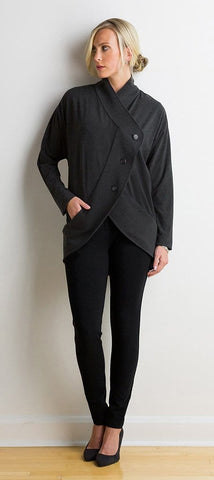 Karina buttoned circle jacket