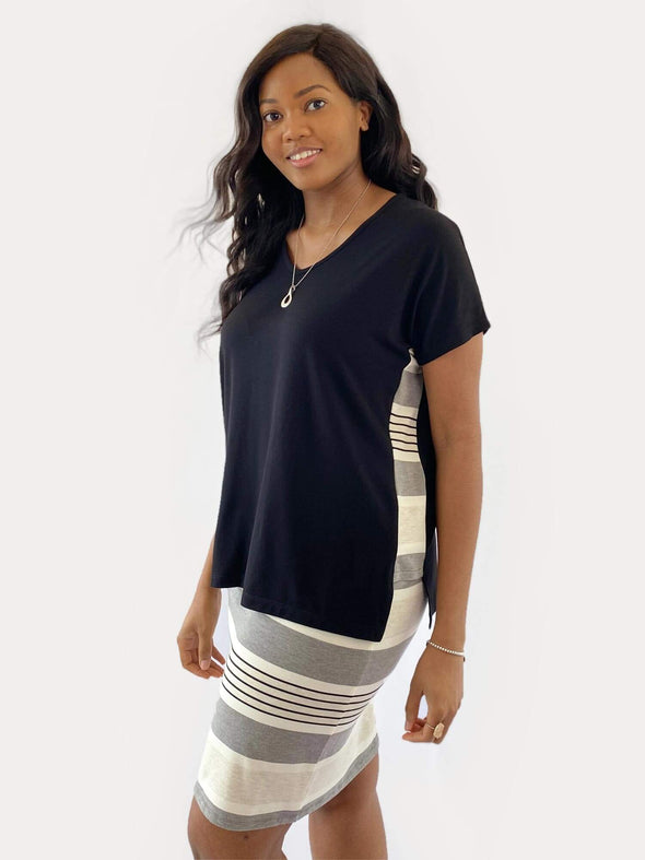 Kylie striped side band top