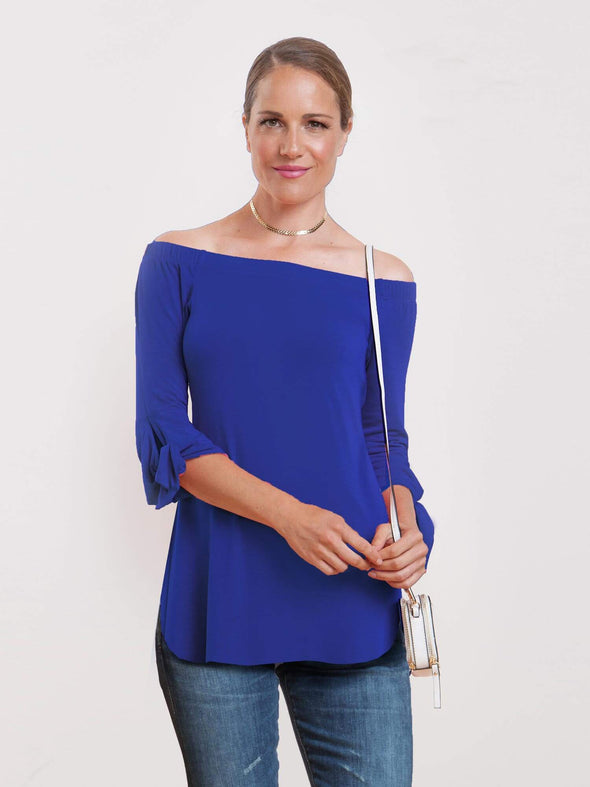 Louanne off-the-shoulder tie-sleeve top - FINAL SALE