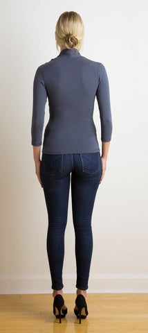 Maddy asymmetrical 3/4 sleeve top