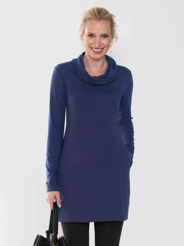 Mara pocket cowl tunic - FINAL SALE