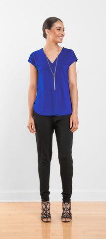 Marli cap-sleeve top
