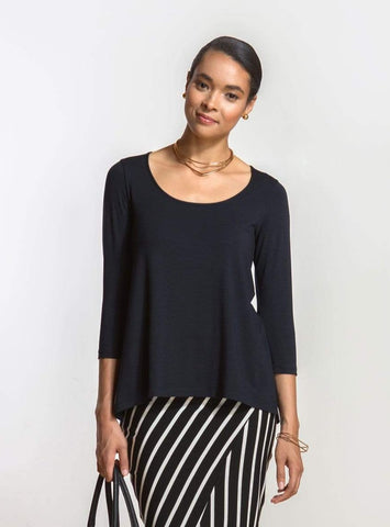 May a-line inverted pleat top
