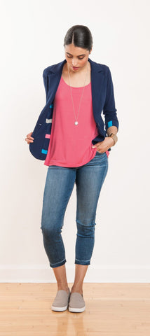 Melissa lined boyfriend jacket