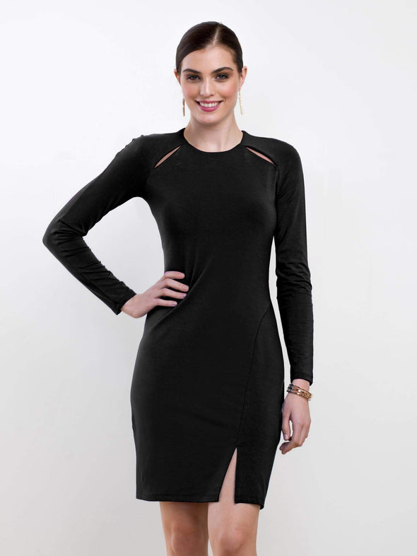 Mila raglan cutout dress