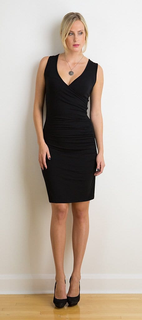 Moira two-sided ruched dress