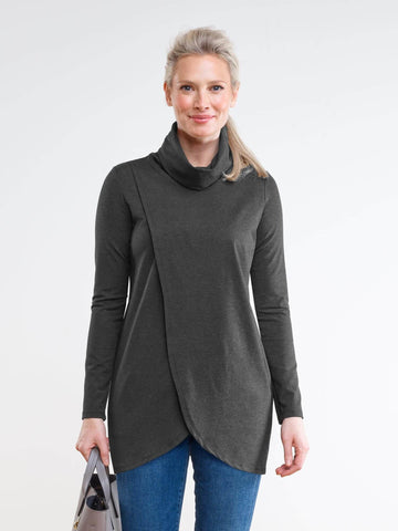 Morgan crossover cowl tunic
