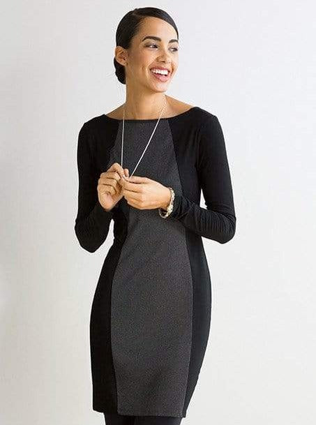 Motria reversible hourglass-seamed dress