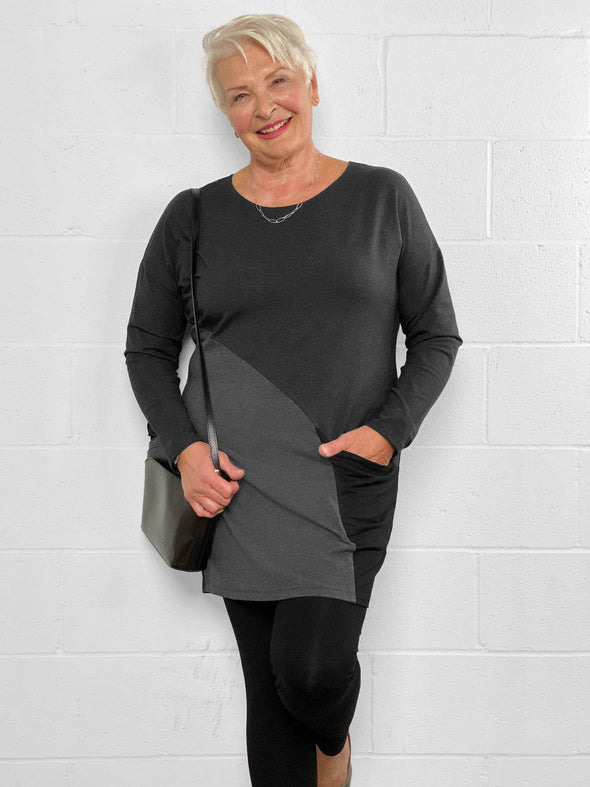 Mynx colourblock pocket tunic