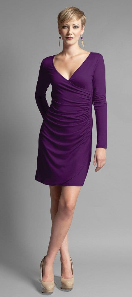 Myrna long-sleeve ruched dress - FINAL SALE