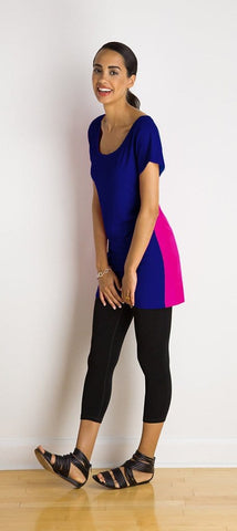 Nat reversible colour-bar tunic