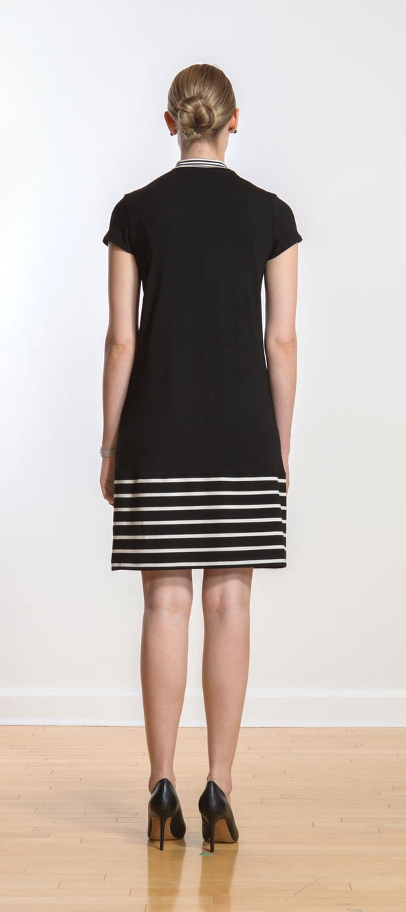 Natalia mock-neck a-line dress - FINAL SALE