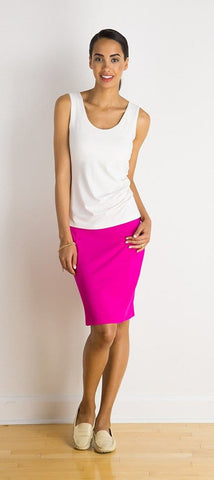 Colleen double-seam skirt
