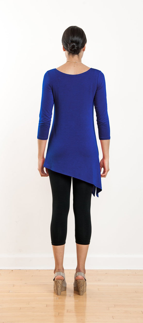 Nora asymmetrical side-slit tunic