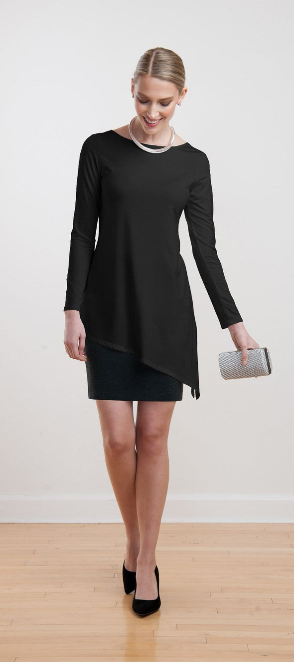 Norelle asymmetrical side slit tunic