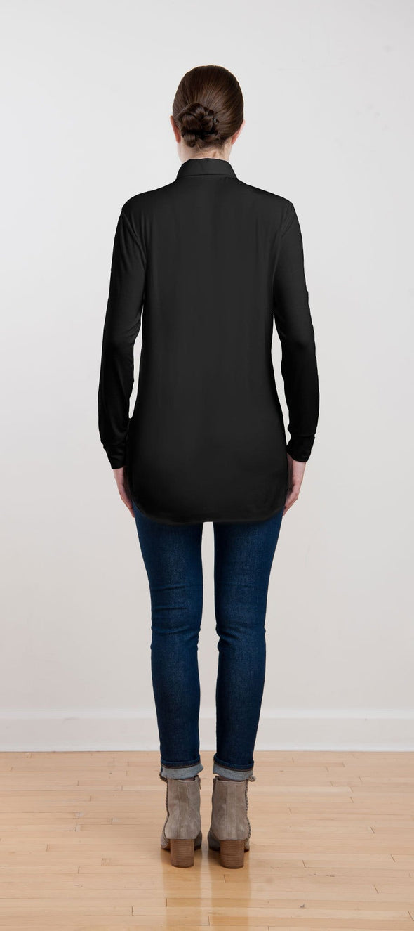 Olive oversized button tunic - FINAL SALE