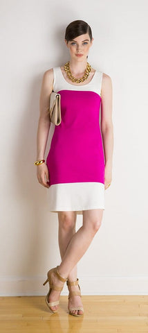 Paige reversible two-tone dress
