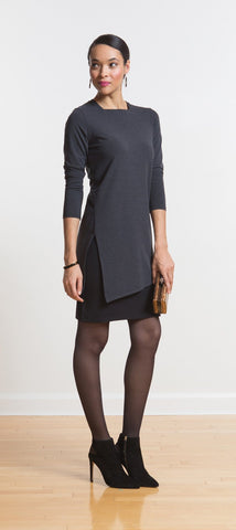 Piper square neck sideslit tunic