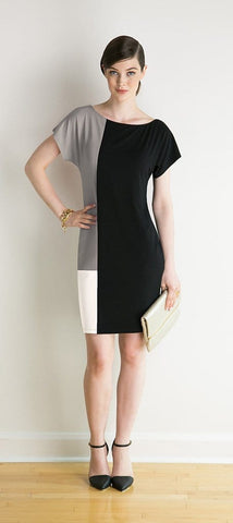 Rebecca reversible geometric dress