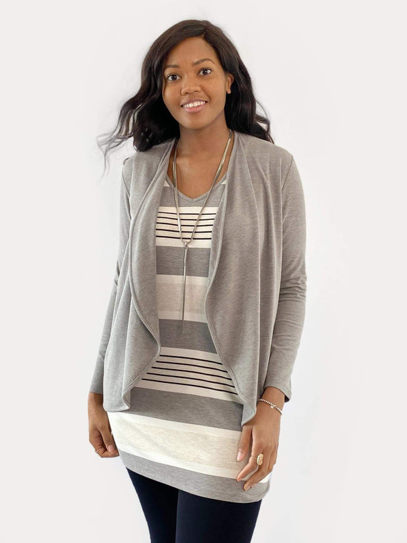Everly curved pocket tunic