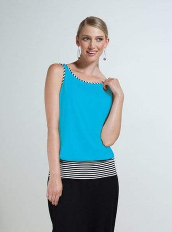Sam reversible stripe band tank