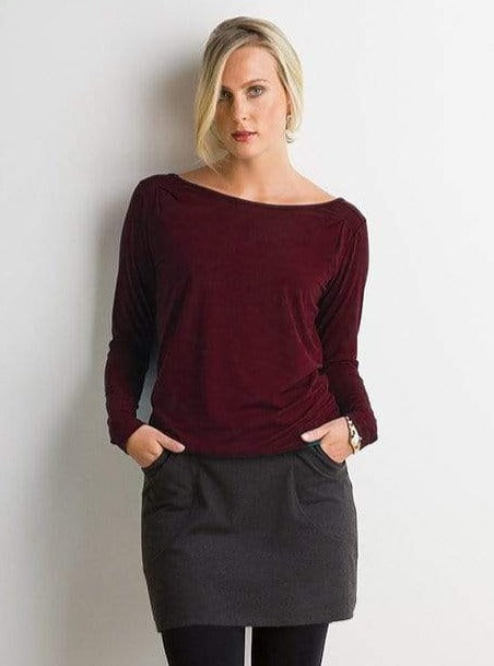Sandra reversible pleat top
