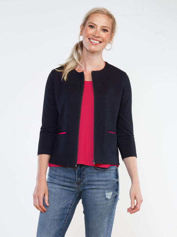 Savannah zippered crop jacket