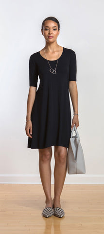 Sharon half-sleeve swing dress