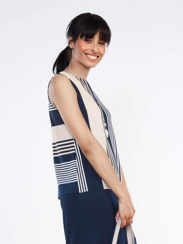Sherri reversible striped tank