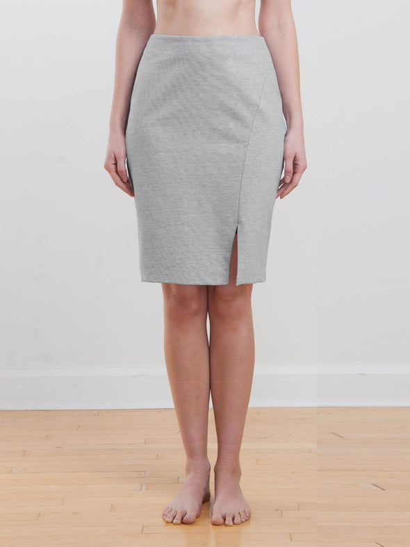 Shira angled seamed skirt