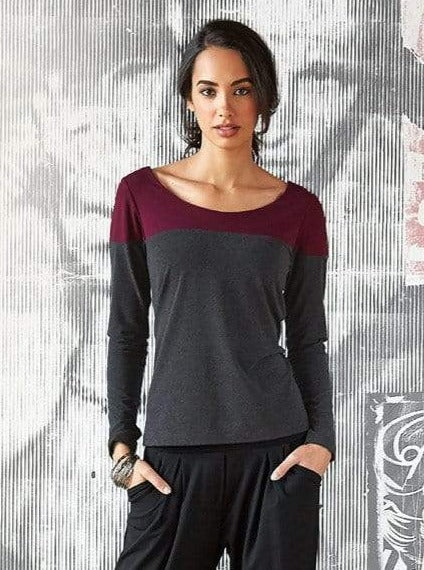 Stacey reversible two-tone top