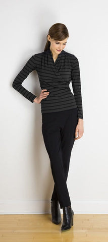 Sue faux-wrap top
