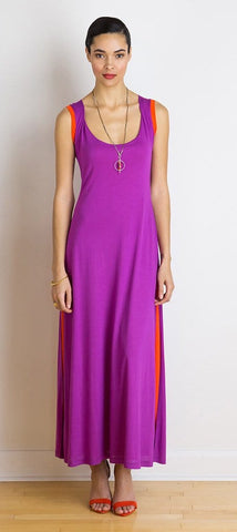 Summer reversible two-layer maxi dress