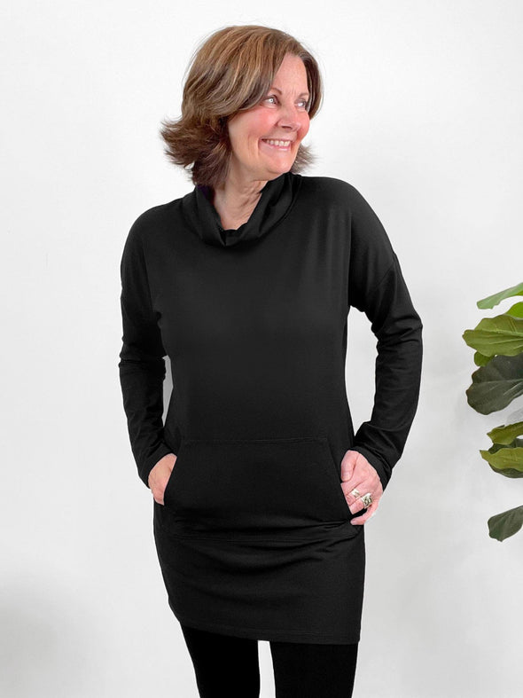 Tate pocket cowl tunic