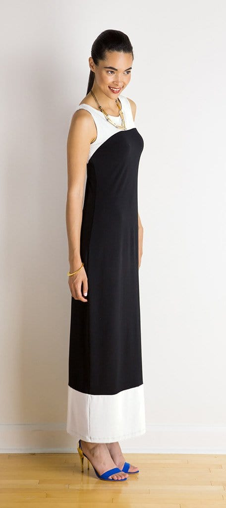 Tiffany reversible colour block maxi dress