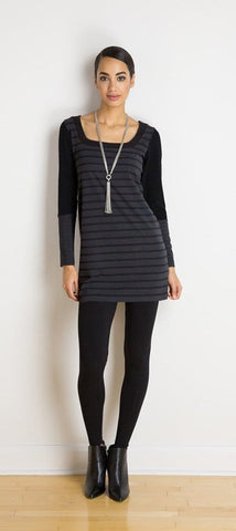 Trish reversible striped tunic