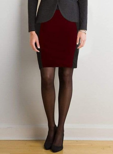 Virginia reversible pencil skirt