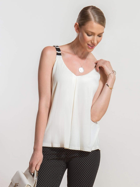 Andrea inverted-pleat tank - FINAL SALE