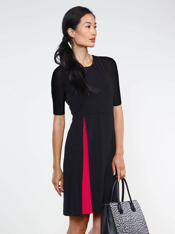 Bea double layer slit dress - FINAL SALE