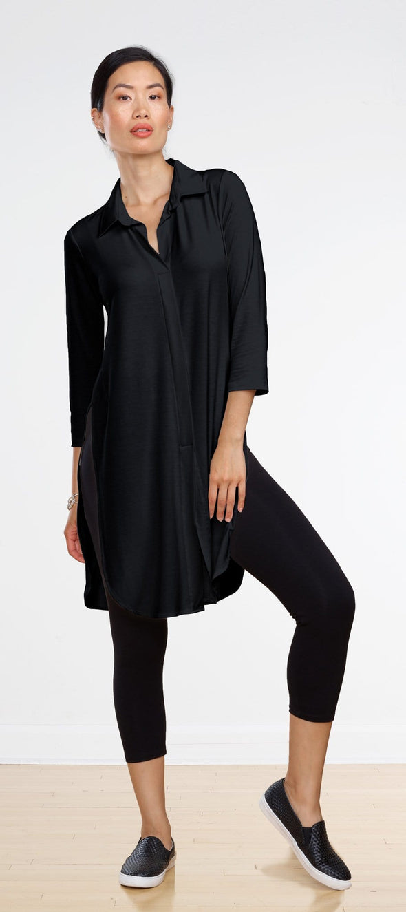 Becca long collared tunic