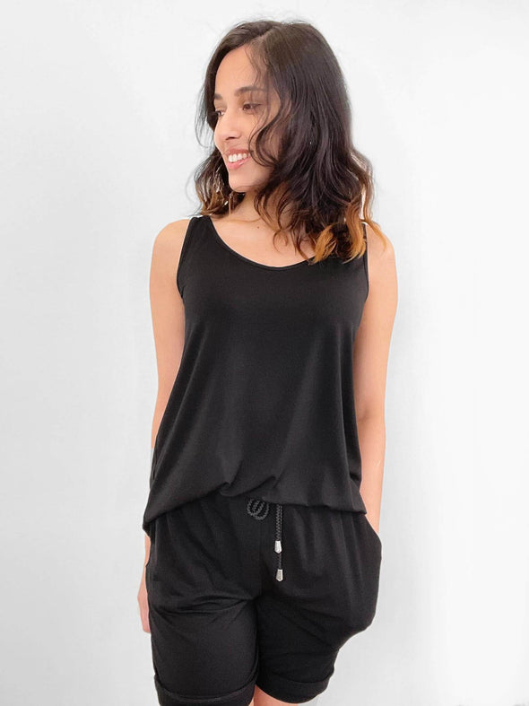 Johanna open-back short romper