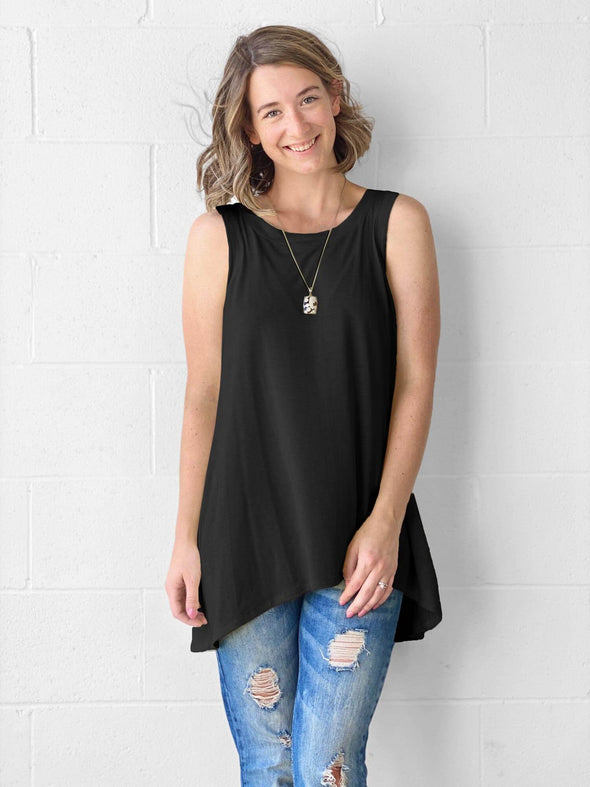 Dalya high-low flowy tunic tank