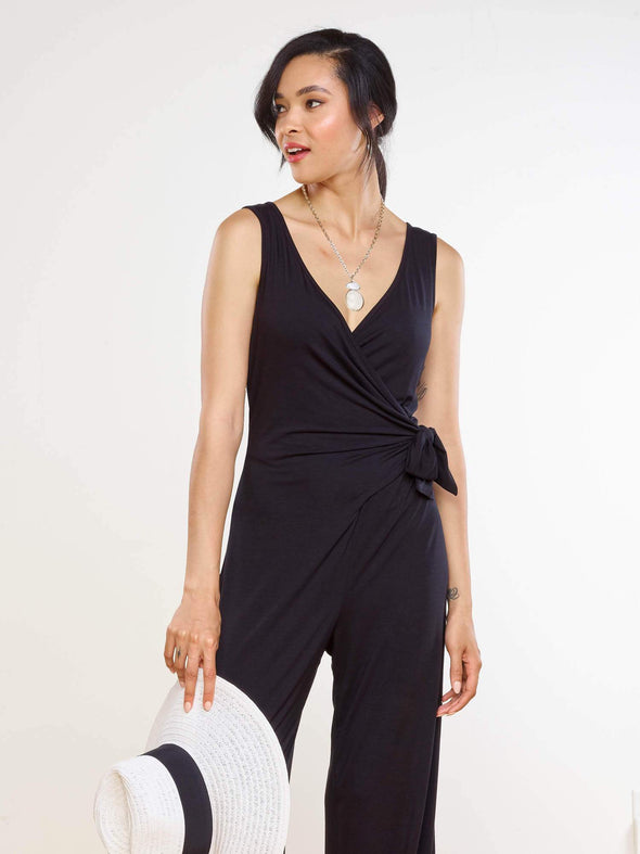 Blakely side-tie dressy jumpsuit