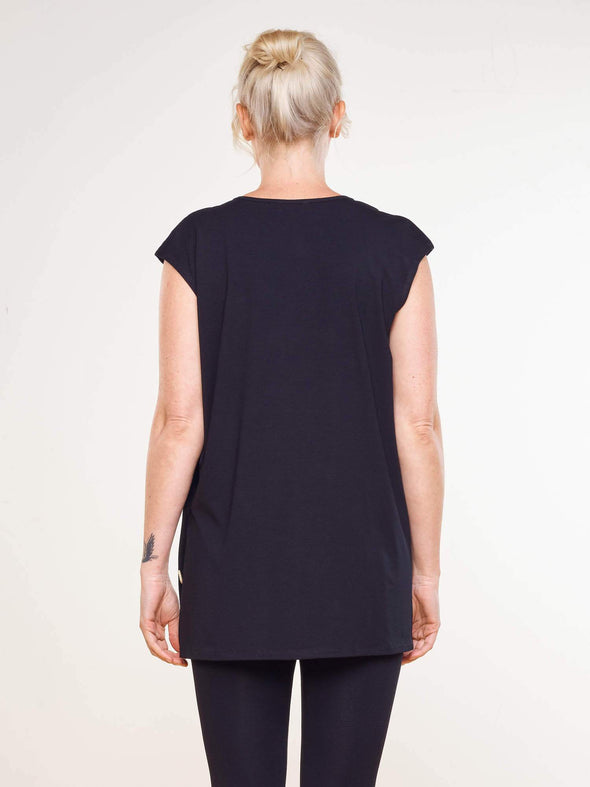 Caroline side button tunic
