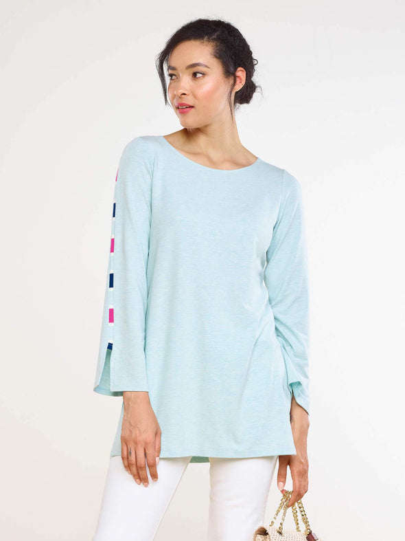 Elle stripe seam tunic