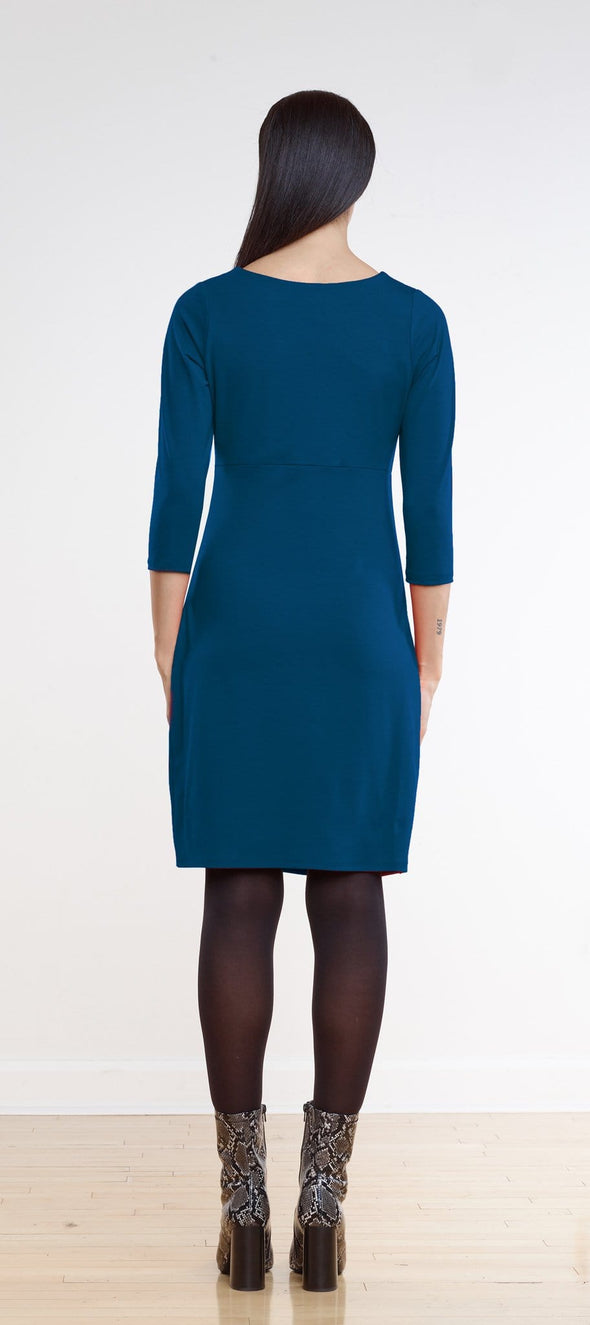 Harlow ruched cross-front dress